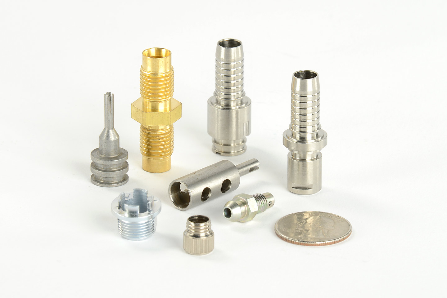 precision machined brass components